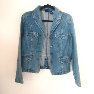 Vintage High Sierra Denim Blazer Jacket Size M